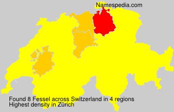 Surname Fessel in Switzerland