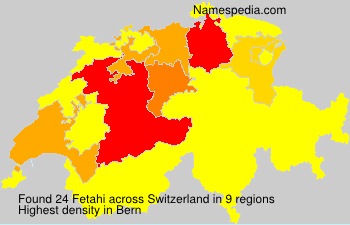 Surname Fetahi in Switzerland