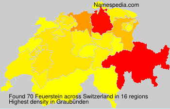 Surname Feuerstein in Switzerland