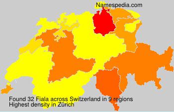 Surname Fiala in Switzerland