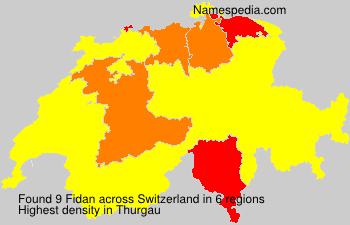 Surname Fidan in Switzerland