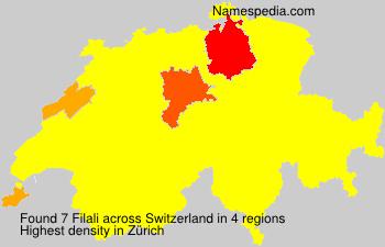 Surname Filali in Switzerland
