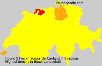 Surname Finckh in Switzerland