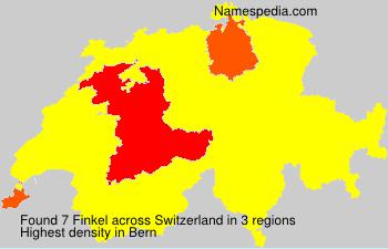 Surname Finkel in Switzerland