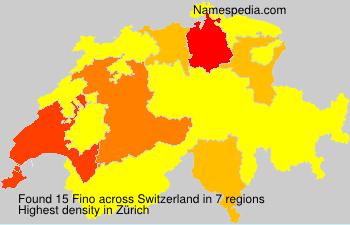 Surname Fino in Switzerland
