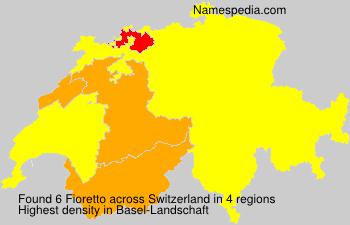 Surname Fioretto in Switzerland