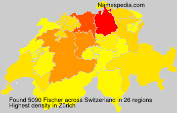 Surname Fischer in Switzerland