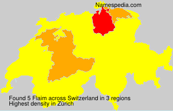 Surname Flaim in Switzerland