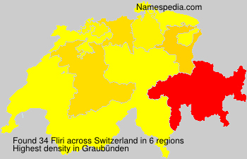 Surname Fliri in Switzerland