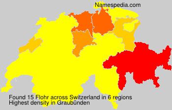 Surname Flohr in Switzerland