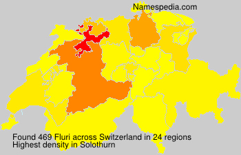 Surname Fluri in Switzerland