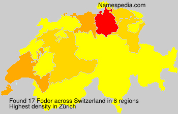 Surname Fodor in Switzerland