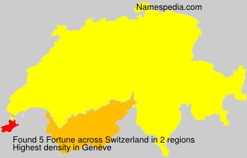 Surname Fortune in Switzerland