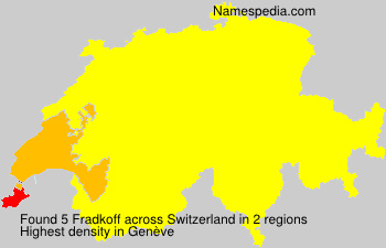 Surname Fradkoff in Switzerland