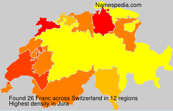 Surname Franc in Switzerland