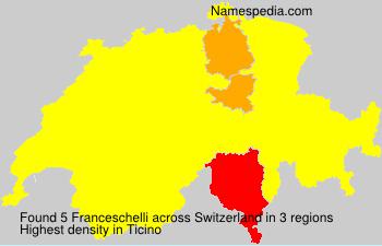 Familiennamen Franceschelli - Switzerland