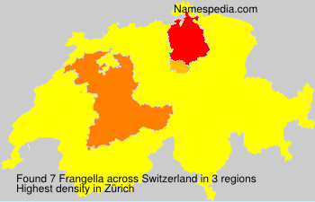Surname Frangella in Switzerland
