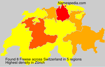 Surname Freese in Switzerland