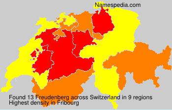 Surname Freudenberg in Switzerland