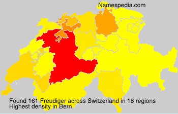 Surname Freudiger in Switzerland