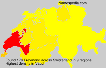 Surname Freymond in Switzerland