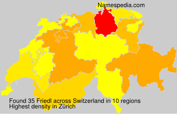 Surname Friedl in Switzerland