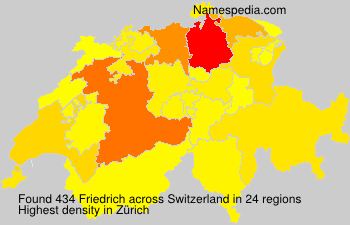 Surname Friedrich in Switzerland