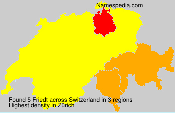 Surname Friedt in Switzerland