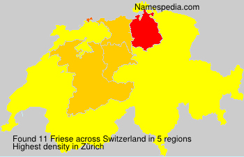 Surname Friese in Switzerland