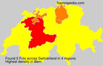 Surname Friis in Switzerland