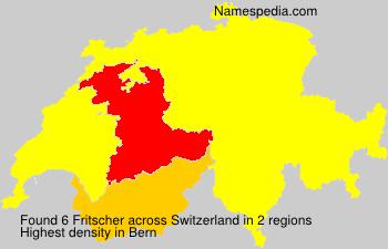 Surname Fritscher in Switzerland