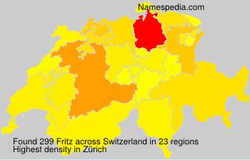 Familiennamen Fritz - Switzerland