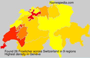 Surname Froelicher in Switzerland