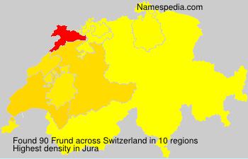Surname Frund in Switzerland