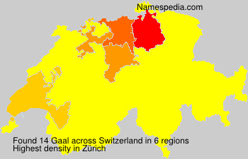 Familiennamen Gaal - Switzerland