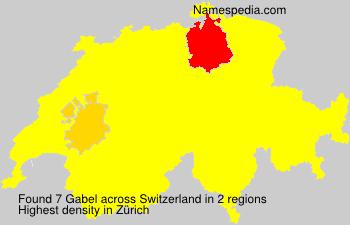 Surname Gabel in Switzerland