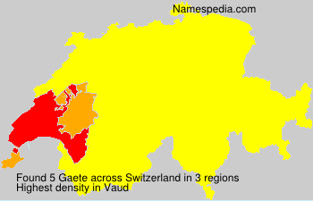 Surname Gaete in Switzerland