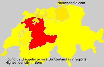 Surname Gaggeler in Switzerland