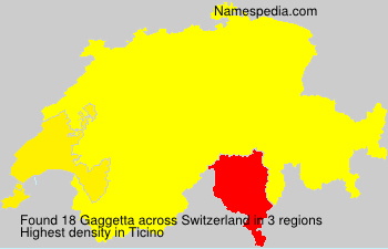 Surname Gaggetta in Switzerland