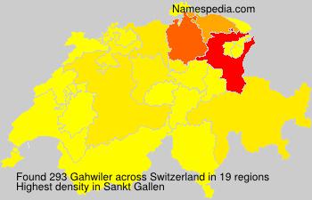Familiennamen Gahwiler - Switzerland