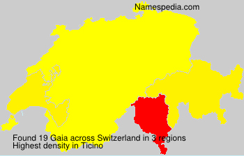 Surname Gaia in Switzerland
