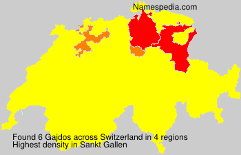 Surname Gajdos in Switzerland
