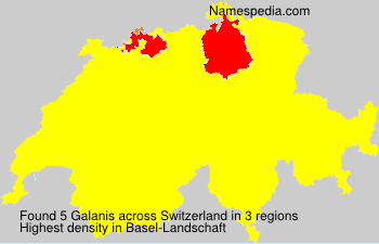Surname Galanis in Switzerland