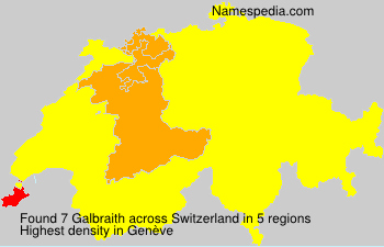 Surname Galbraith in Switzerland
