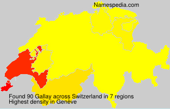 Surname Gallay in Switzerland