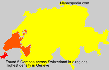 Surname Gamboa in Switzerland