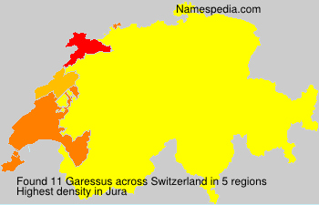 Surname Garessus in Switzerland