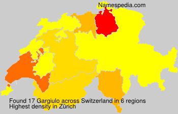 Surname Gargiulo in Switzerland