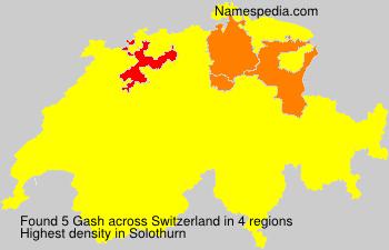 Surname Gash in Switzerland