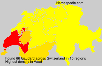 Surname Gaudard in Switzerland
